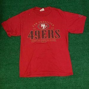 Vintage 90s 49ers Lee Sport t shirt